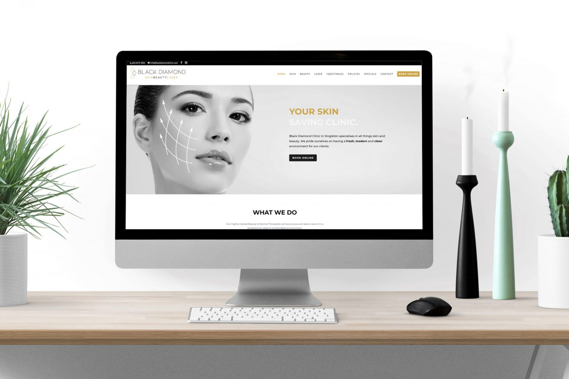 Black-Diamond-Clinic-Website-Design-Shopify-Online-Shop-Camel-Milk-NSW-Muswellbrook-Hunter-Valley-1
