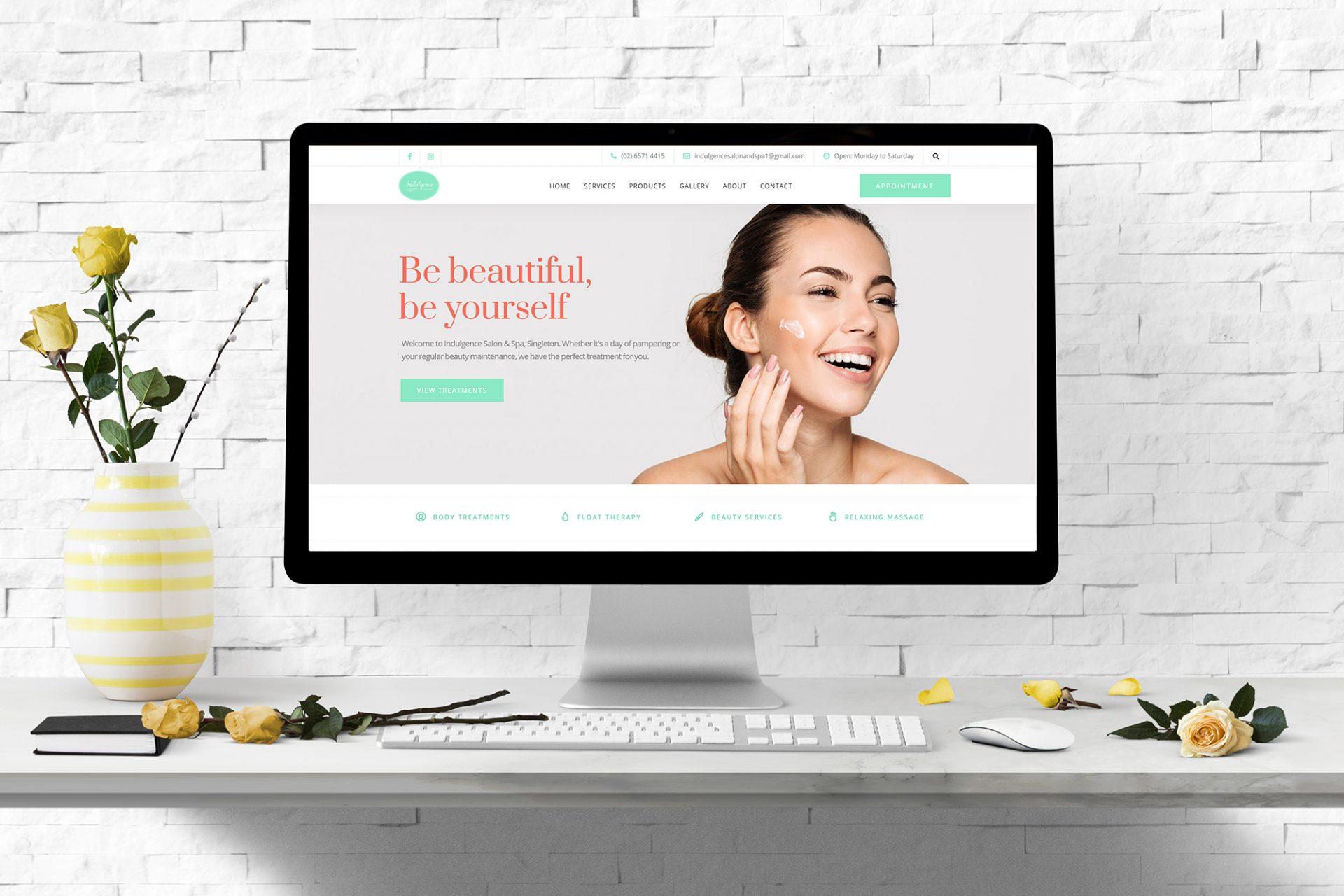 Website-Design-Indulgence-Salon-and-Spa-Singleton-NSW-Hunter-Valley